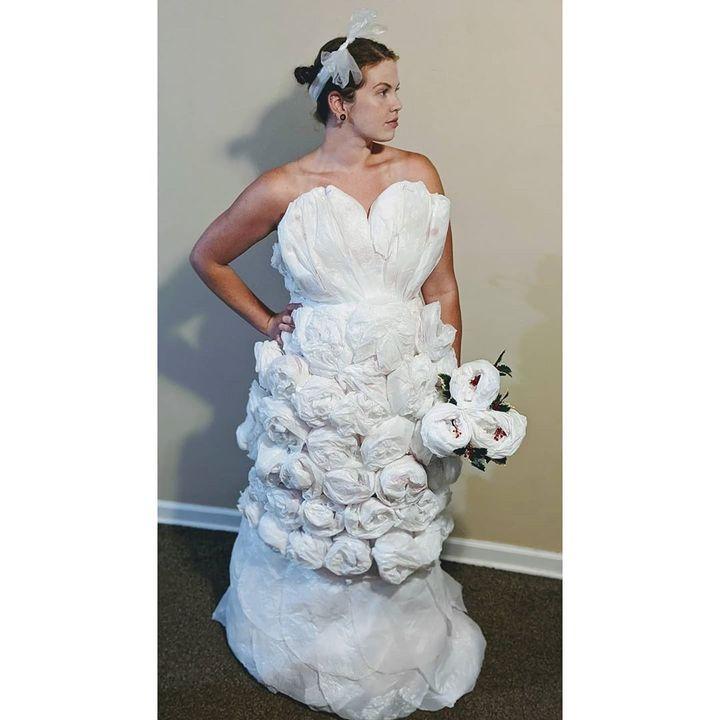Grocery Bag Wedding Dress